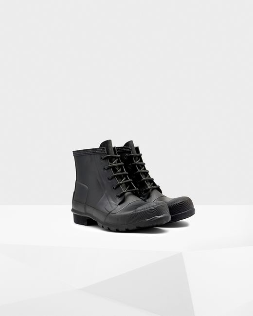 Hunter | Black Women's Original Lace-up Boots | Lyst