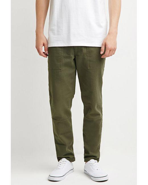 Forever 21   Green Paneled Utility Pants for Men   Lyst