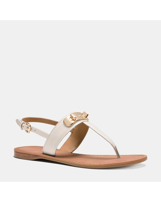 COACH | White Gracie Swagger Sandal | Lyst
