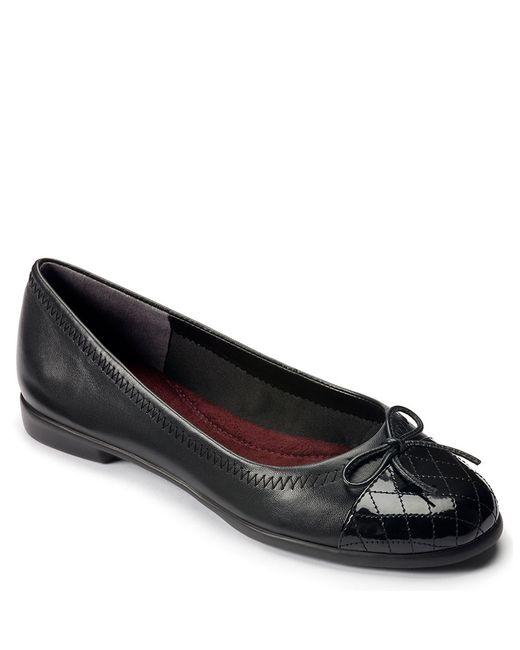 Aerosoles | Black Beckon Leather Ballet Flats | Lyst