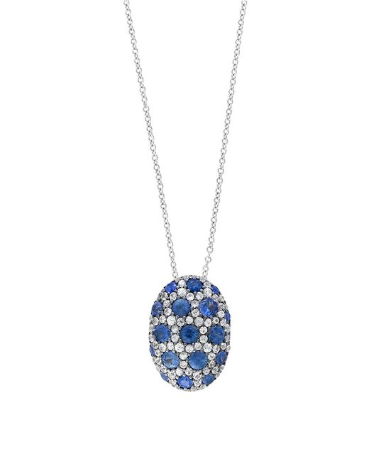 Effy | Metallic Blue Sapphire, White Sapphire And Sterling Silver Necklace | Lyst