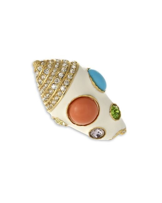 Kenneth Jay Lane | White Seashell Brooch | Lyst