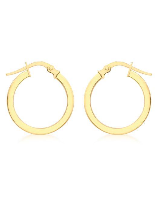 Ib&b   Metallic 9ct Yellow Gold Creole Lever Hoop Earrings   Lyst
