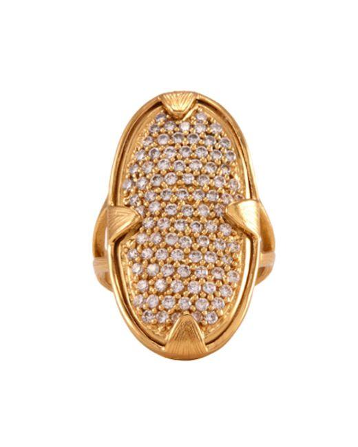 Melinda Maria   Metallic Orion Pave Ring   Lyst