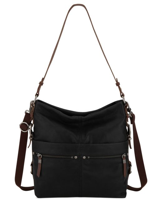 The Sak | Black Sanibel Leather Bucket Hobo Bag | Lyst