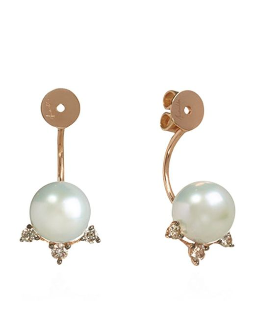 Annoushka | Pink Diamonds And Pearls Earring Backs | Lyst
