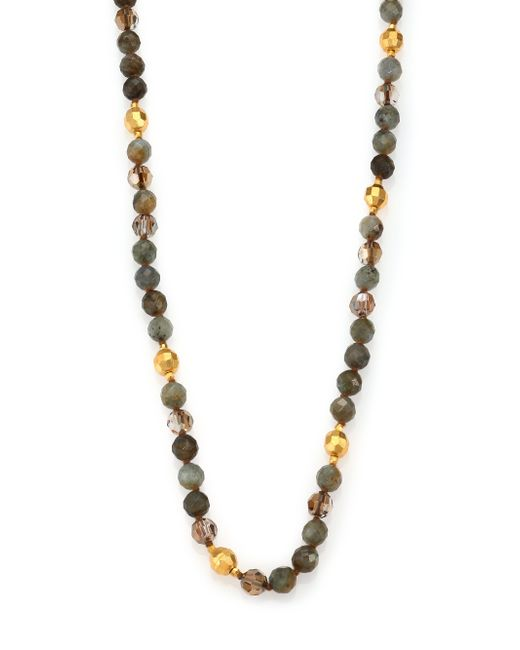 Chan Luu | Multicolor Labradorite & Crystal Long Beaded Necklace | Lyst
