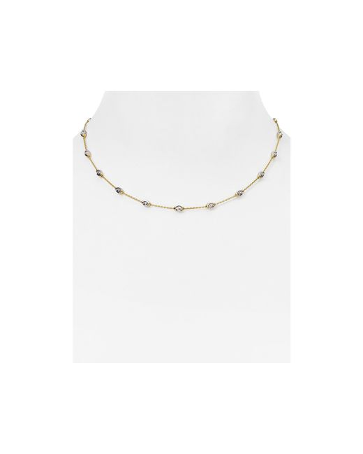 Officina Bernardi | Metallic Beaded Necklace, 16"