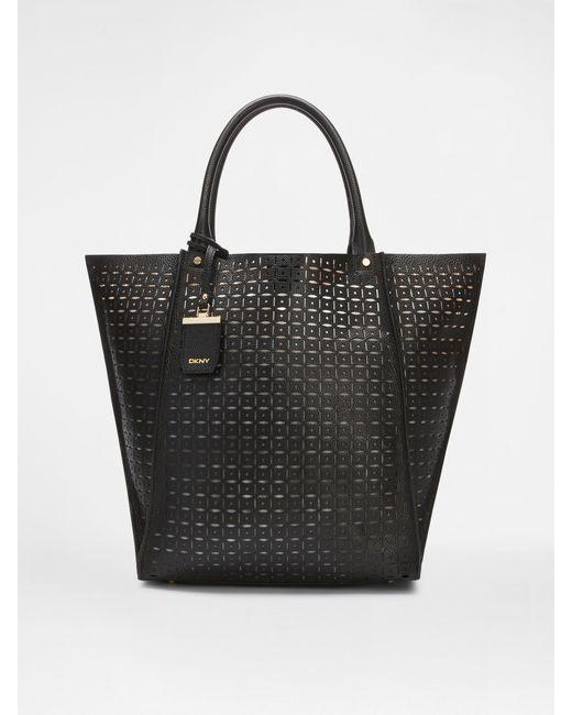DKNY | Black French Grain Medium Shopper | Lyst