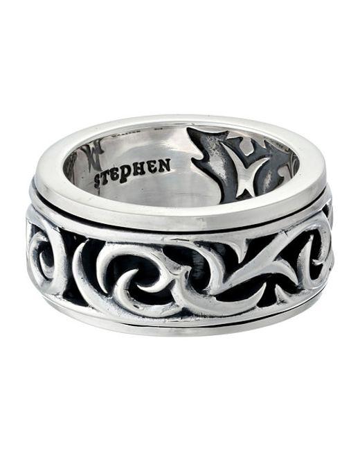 Stephen Webster | Metallic Thorn Rotating Band Ring for Men | Lyst