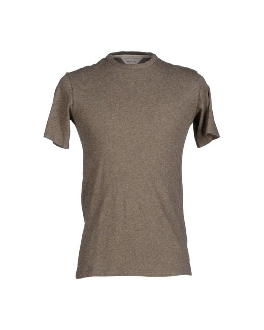 Rag bone t shirt in natural for men lyst for Rag and bone mens shirts sale