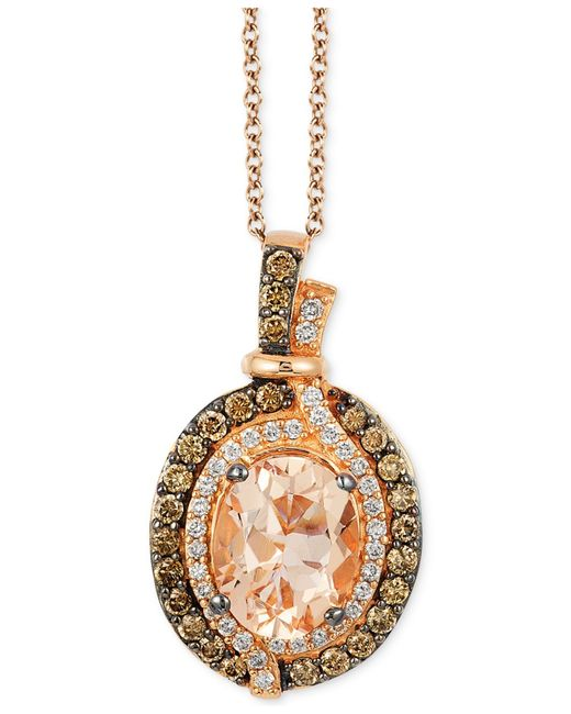Le Vian | Orange Tanzanite (1 Ct. T.w.) And Diamond (5/8 Ct. T.w.) Pendant Necklace In 14k Rose Gold | Lyst