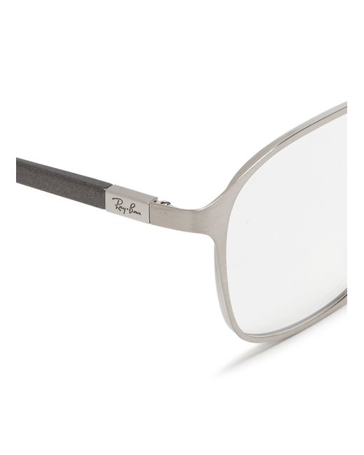 Ray Ban Silver Frame Glasses : Ray-ban Square Metal Frame Optical Glasses in Silver ...