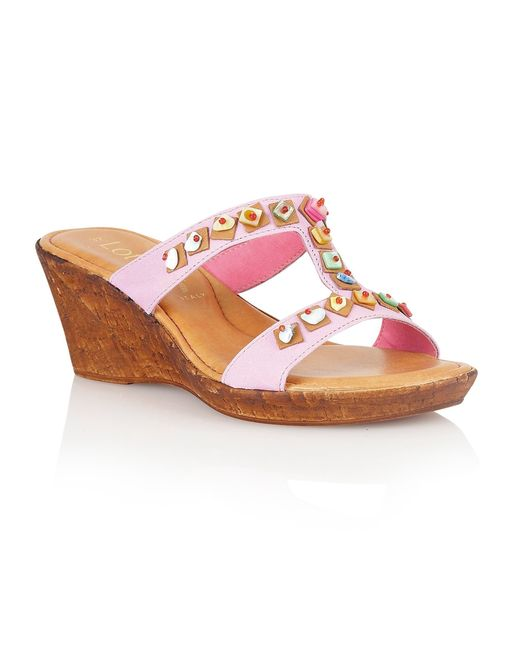 Lotus | Purple Loretta Wedge Sandals | Lyst