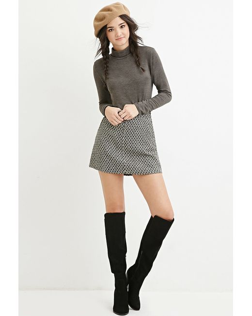 Forever 21 | Gray Classic Turtleneck Top | Lyst