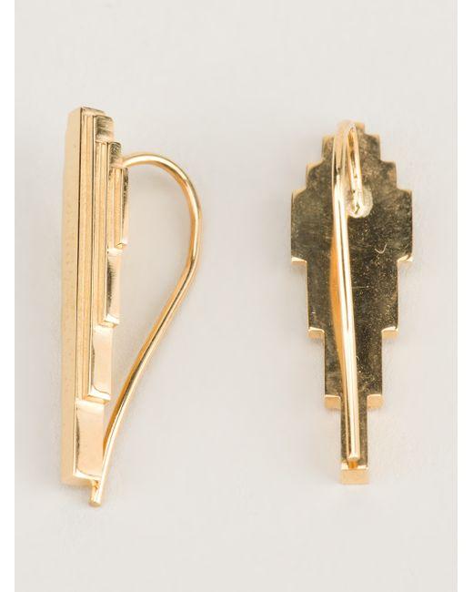 Clarice Price Thomas   Metallic 'antumbra Wing' Lobe Earrings   Lyst