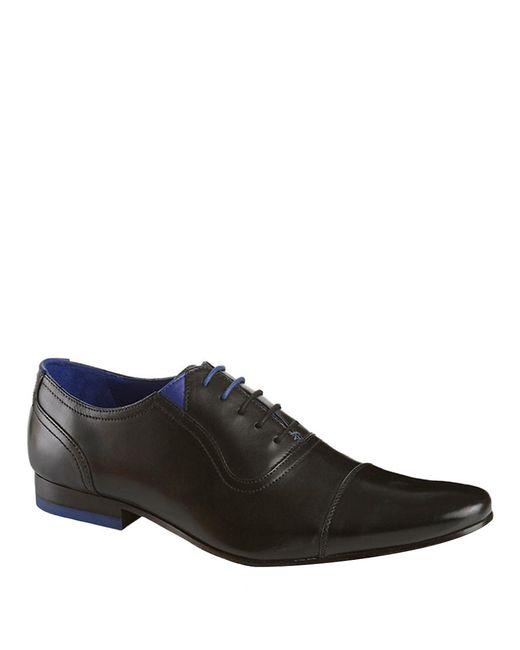 Ted Baker | Black Rogrr Leather Oxfords for Men | Lyst