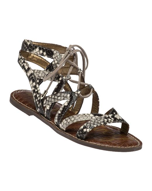 Sam Edelman Gemma Snakeskin Print Gladiator Sandals In