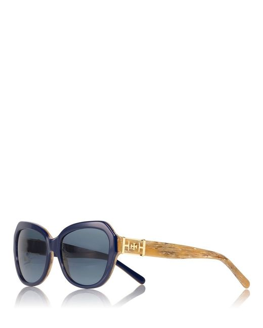 Tory Burch | Blue Geo Cat-eye Sunglasses | Lyst