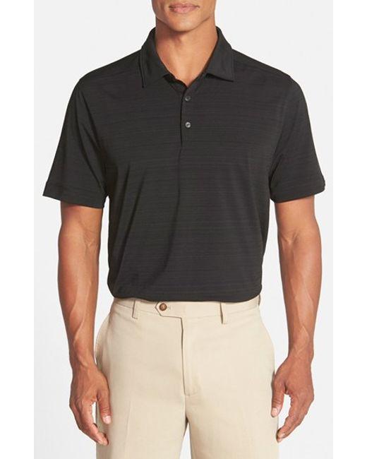 Cutter & Buck | Black 'highland Park' Drytec Golf Polo for Men | Lyst
