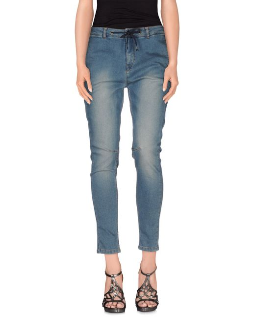 Twin Set | Blue Denim Pants | Lyst