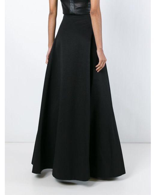 gareth pugh flared maxi skirt in black save 61 lyst