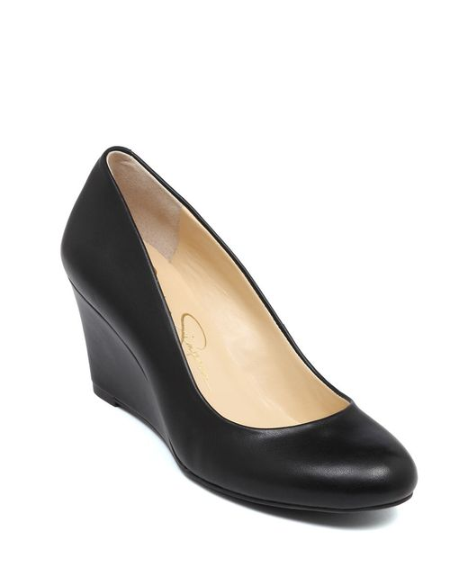 Jessica Simpson | Black Sampson Wedges | Lyst