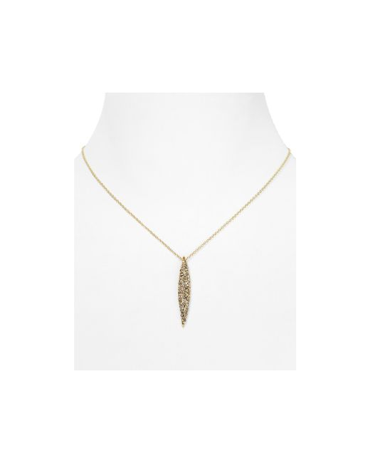Alexis Bittar | Metallic Miss Havisham Crystal Encrusted Spear Pendant Necklace, 16"