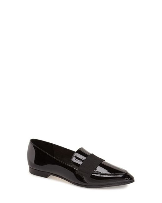 Kate Spade | Black 'corina' Pointy Toe Loafer | Lyst