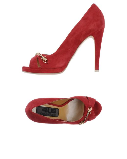 Cesare Paciotti | Red Pump | Lyst
