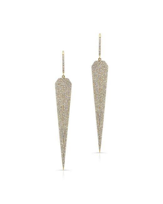 Anne Sisteron | Metallic 14kt Yellow Gold Diamond Jennifer L Earrings | Lyst