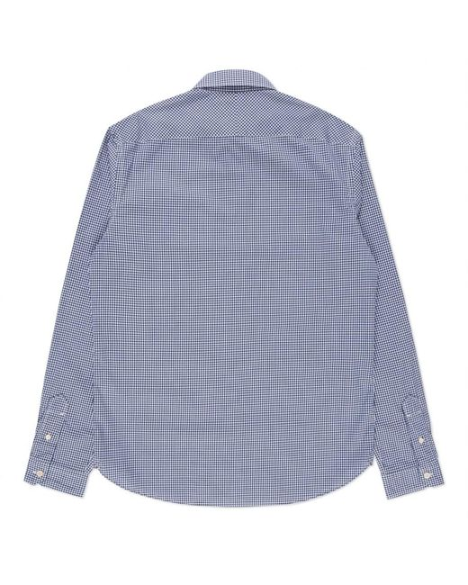 Paul Smith Men 39 S Tailored Fit Navy Gingham Button Down