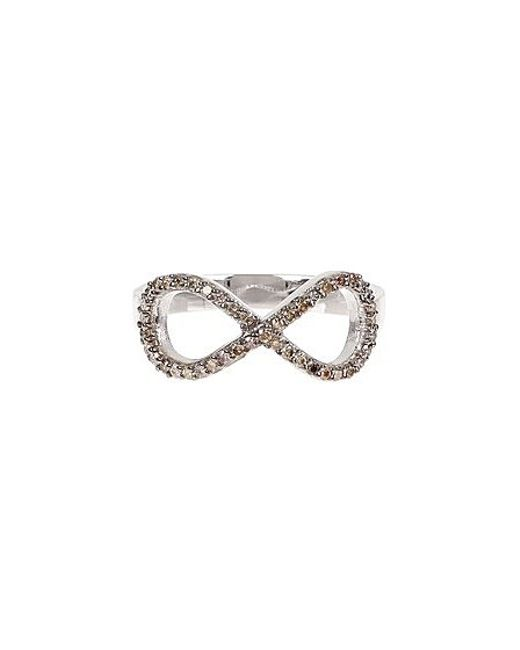 vanhi 14k white gold infinity ring 0 32 ctw in