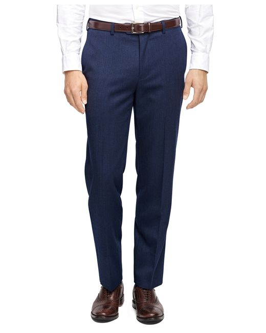 Brooks Brothers | Blue Fitzgerald Fit Whipcord Trousers for Men | Lyst