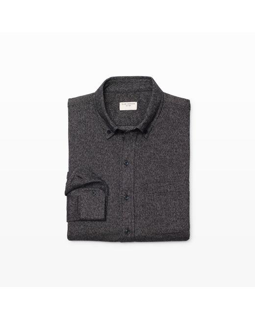 Club Monaco | Gray Slim-fit Brushed Jaspé Shirt for Men | Lyst
