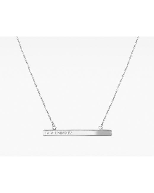 Vrai & Oro | Metallic Bar Necklace | Lyst