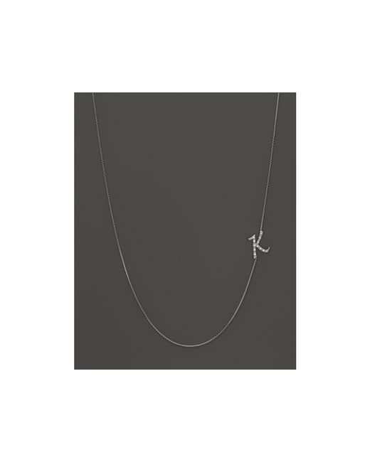KC Designs | Diamond Side Initial K Necklace In 14k White Gold, .07 Ct. T.w. | Lyst