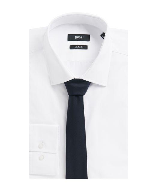 HUGO | Blue Woollen Tie: 'tie 6 Cm Self-tipped' for Men | Lyst