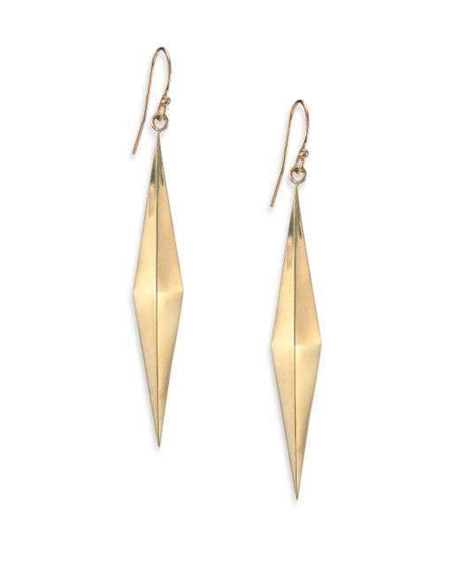 Zoe Chicco | Metallic 14k Yellow Gold Long Pyramid Earrings | Lyst