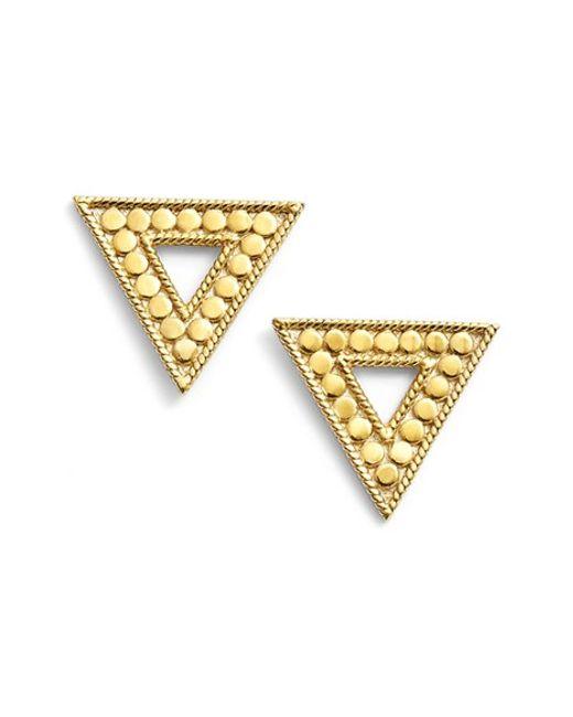Anna Beck | Metallic 'gili' Triangle Stud Earrings | Lyst