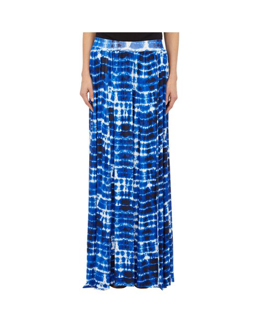 barneys new york tie dye maxi skirt in blue save 47 lyst
