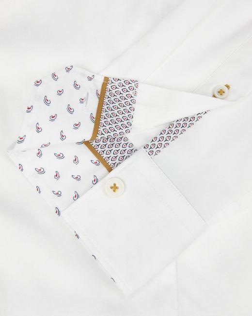 Ted Baker   White Satin Stretch Shirt for Men   Lyst