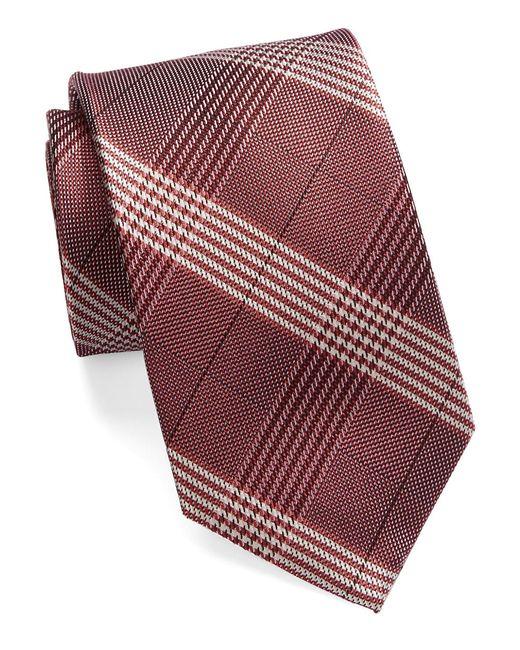 william rast glen plaid silk tie in multicolor for