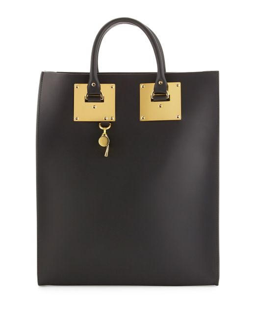 Sophie Hulme   Black Leather Tote Bag With Whistle Charm   Lyst