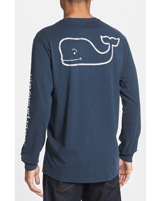 Vineyard Vines | Blue Whale Graphic Long Sleeve T-shirt for Men | Lyst