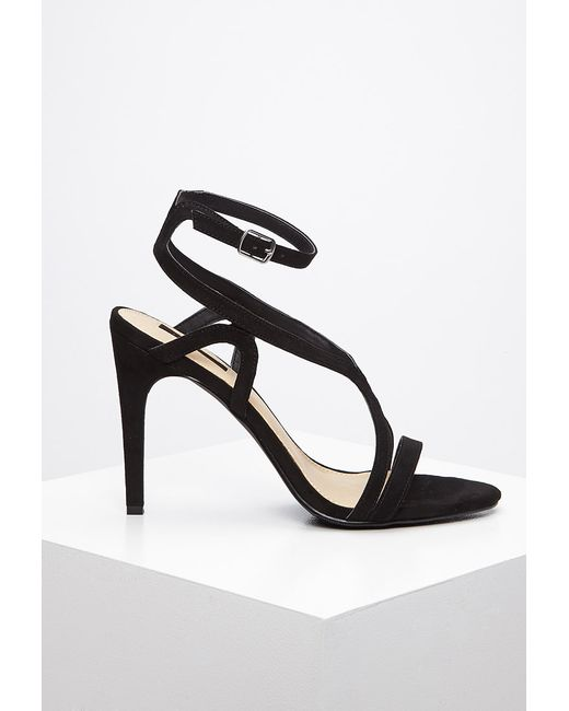 Forever 21 | Black Curved Strap Stiletto Sandals | Lyst