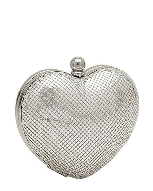 Whiting & Davis | Metallic Charity Heart Minaudiere | Lyst
