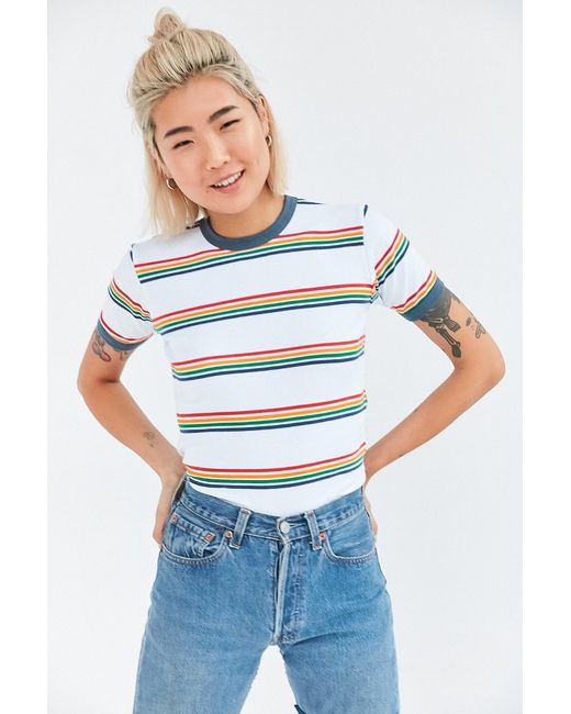 Clothes Ringer 2015 ~ Truly madly deeply jewel striped ringer tee in multicolor