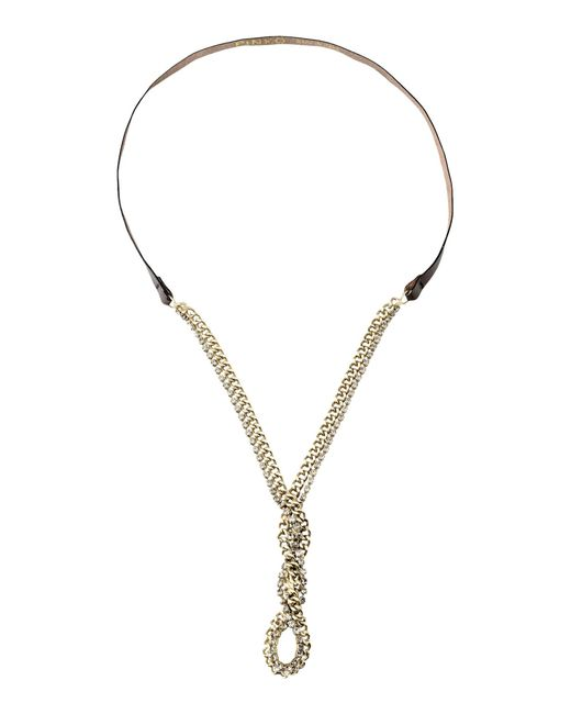Pinko | Metallic Necklace | Lyst