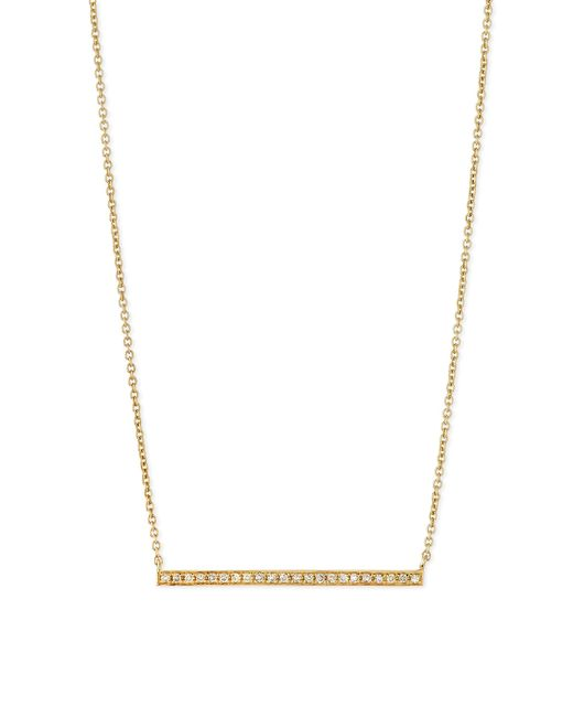Sydney Evan   Metallic 14k Gold Diamond Bar Necklace   Lyst